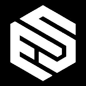 es hexagon logo of ecommercestore.co.za